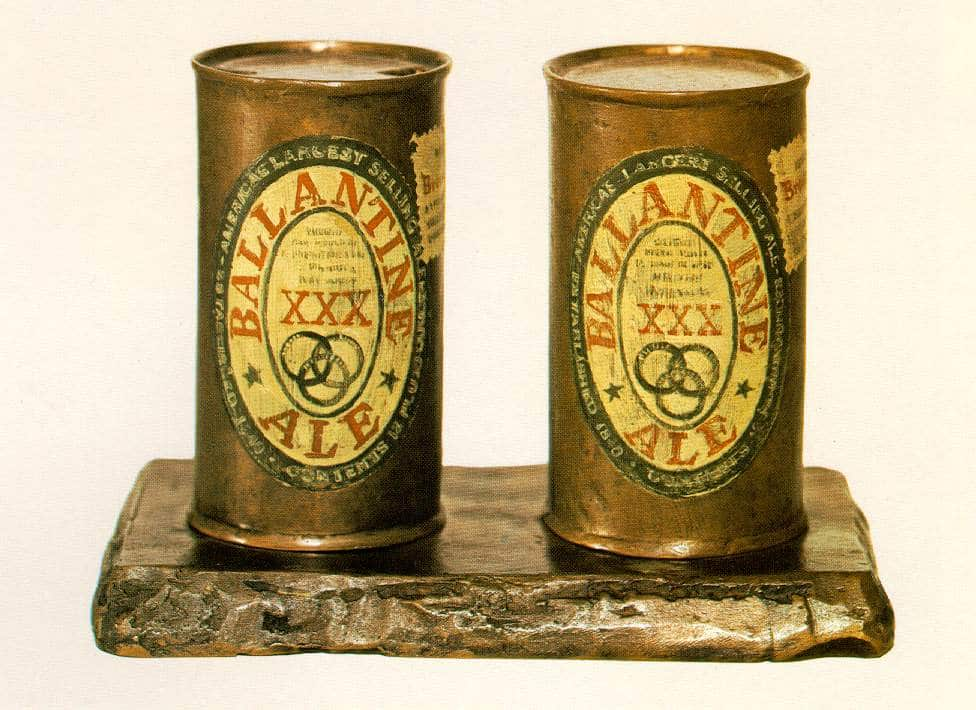 Jasper Johns playfully inverted Duchamp's idea of the readymade with Painted Bronze (Two Ale Cans), 1960