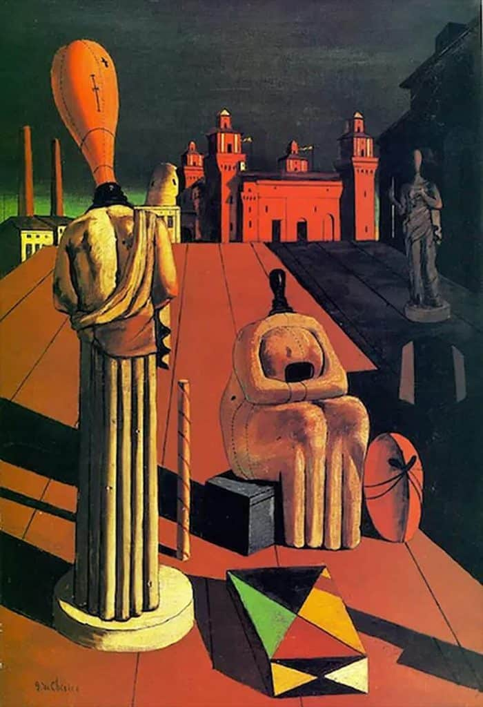 The Disquieting Muses, de Chirico (1918); private collection