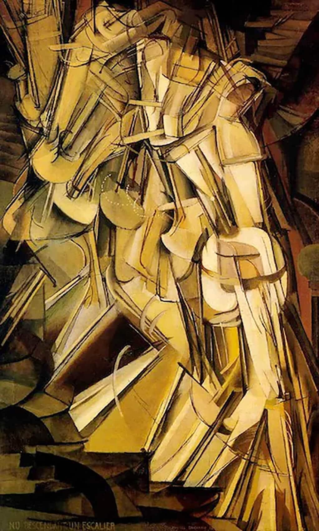 Nude Descending a Staircase, Duchamp (1912); Philadelphia Museum of Art