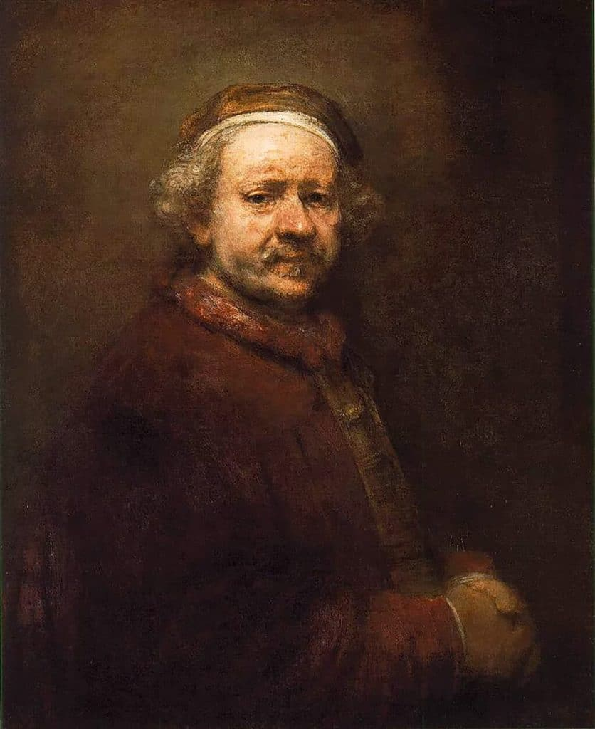 Self-Portrait at the Age of 63, Rembrandt (1669); National Gallery, London