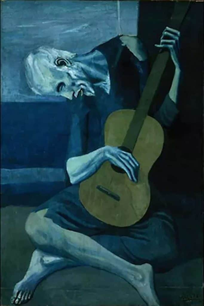 The Old Guitarist, Picasso (1903); Art Institute of Chicago