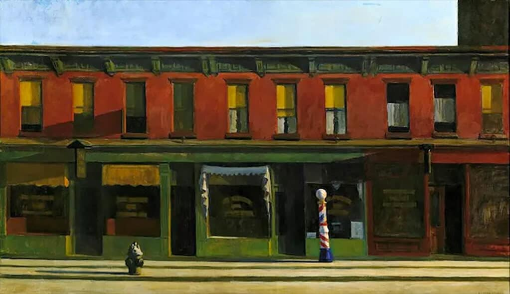 Edward Hopper: Early Sunday Morning (1930); Whitney Museum of American Art, New York