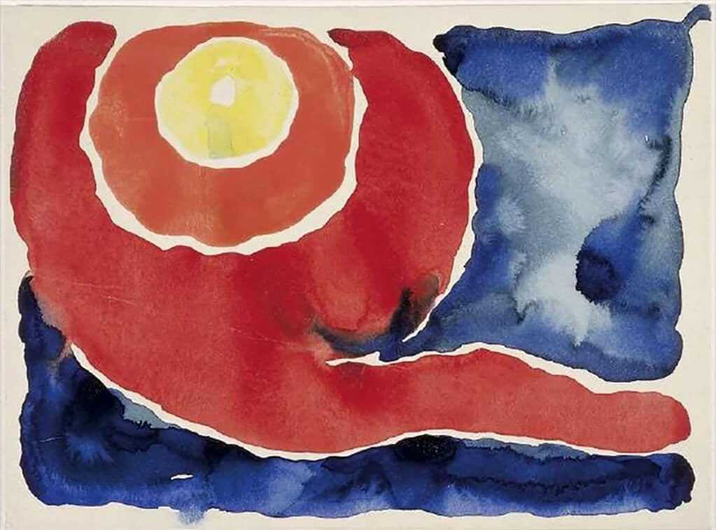 Georgia O'Keeffe: Evening Star V (1917); National Gallery of Art, Washington