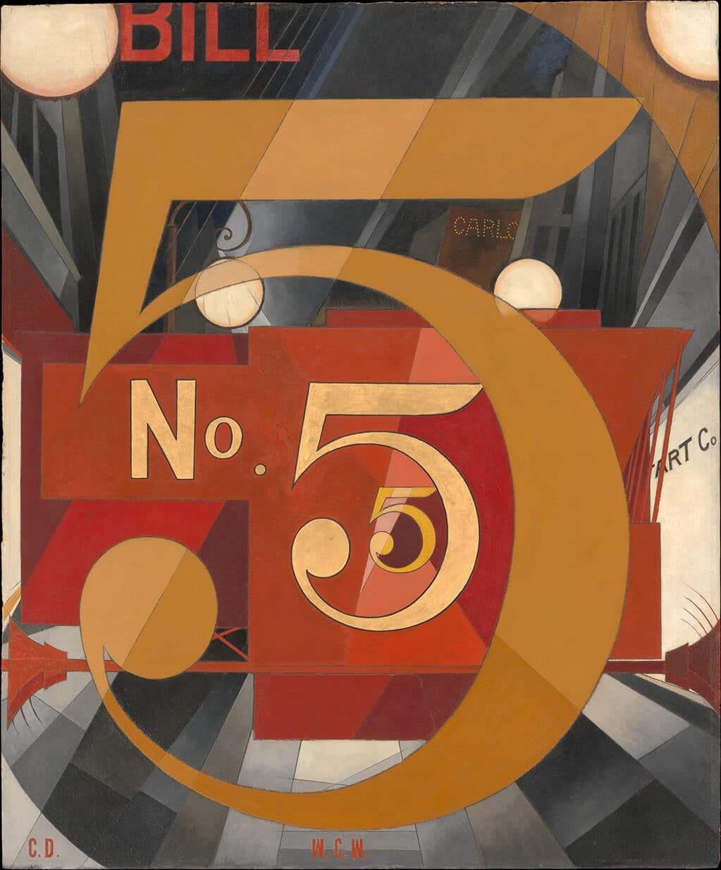Charles Demuth: I Saw the Figure in Gold (1928); Metropolitan Museum of Art, New York