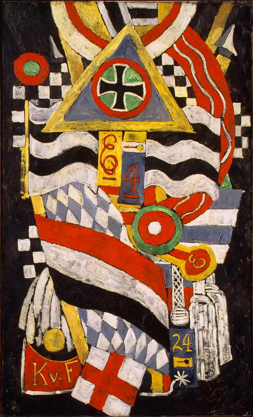Marsden Hartley: Portrait of a German Officer (1914); Metropolitan Museum of Art, New York