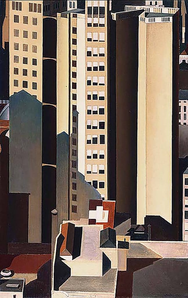 Charles Sheeler: Skyscrapers (1922); The Phillips Collection, Washington