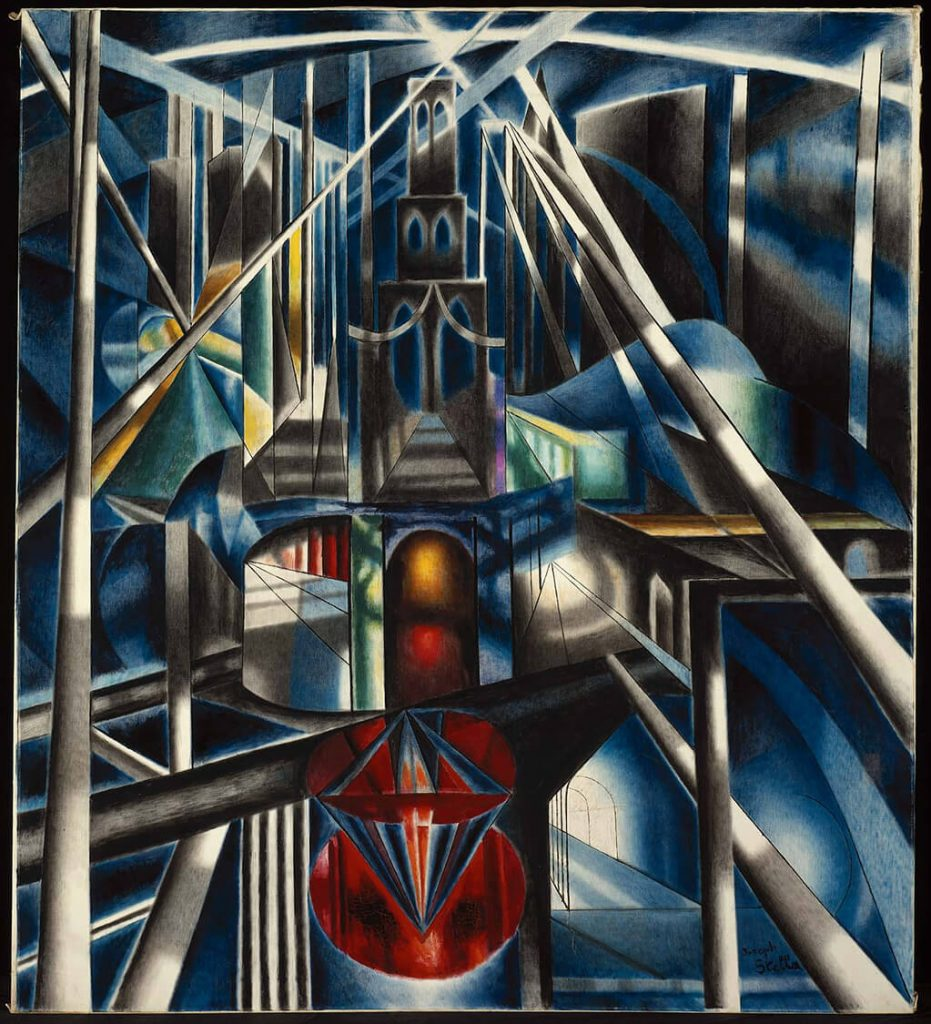 Joseph Stella: Brooklyn Bridge (1919); Yale University Art Gallery, Connecticut