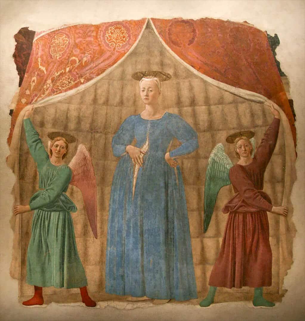 Madonna del Parto, c.1460; Monterchi