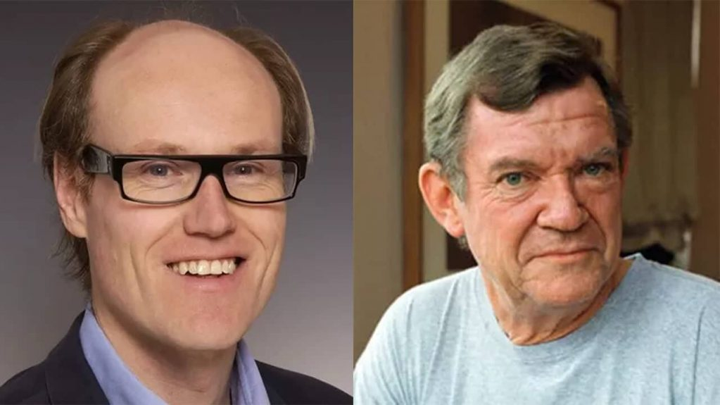 BBC arts editor Will Gompertz and the late art critic Robert Hughes
