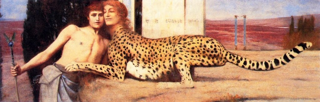 Fernand_Khnopff, L'Art (The Caress), 1896