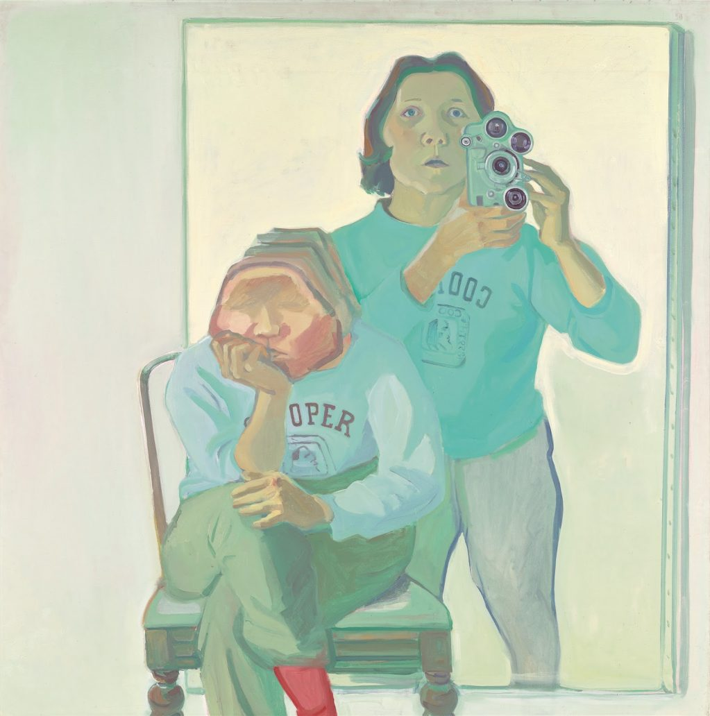 Maria Lassnig, Double Self-Portrait with Camera 1974