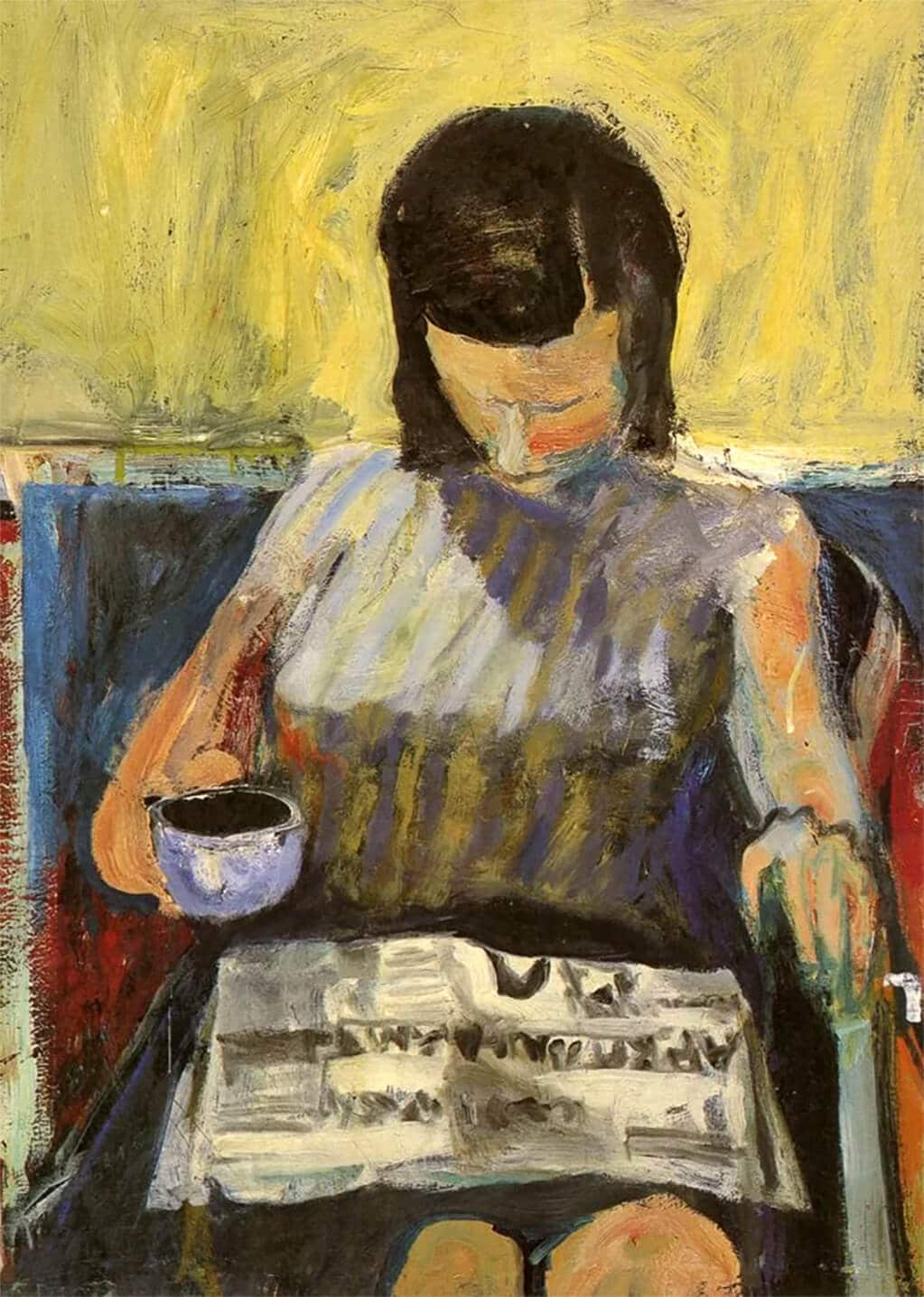 Richard Diebenkorn, Woman Reading a Newspaper, 1955-59; private collection