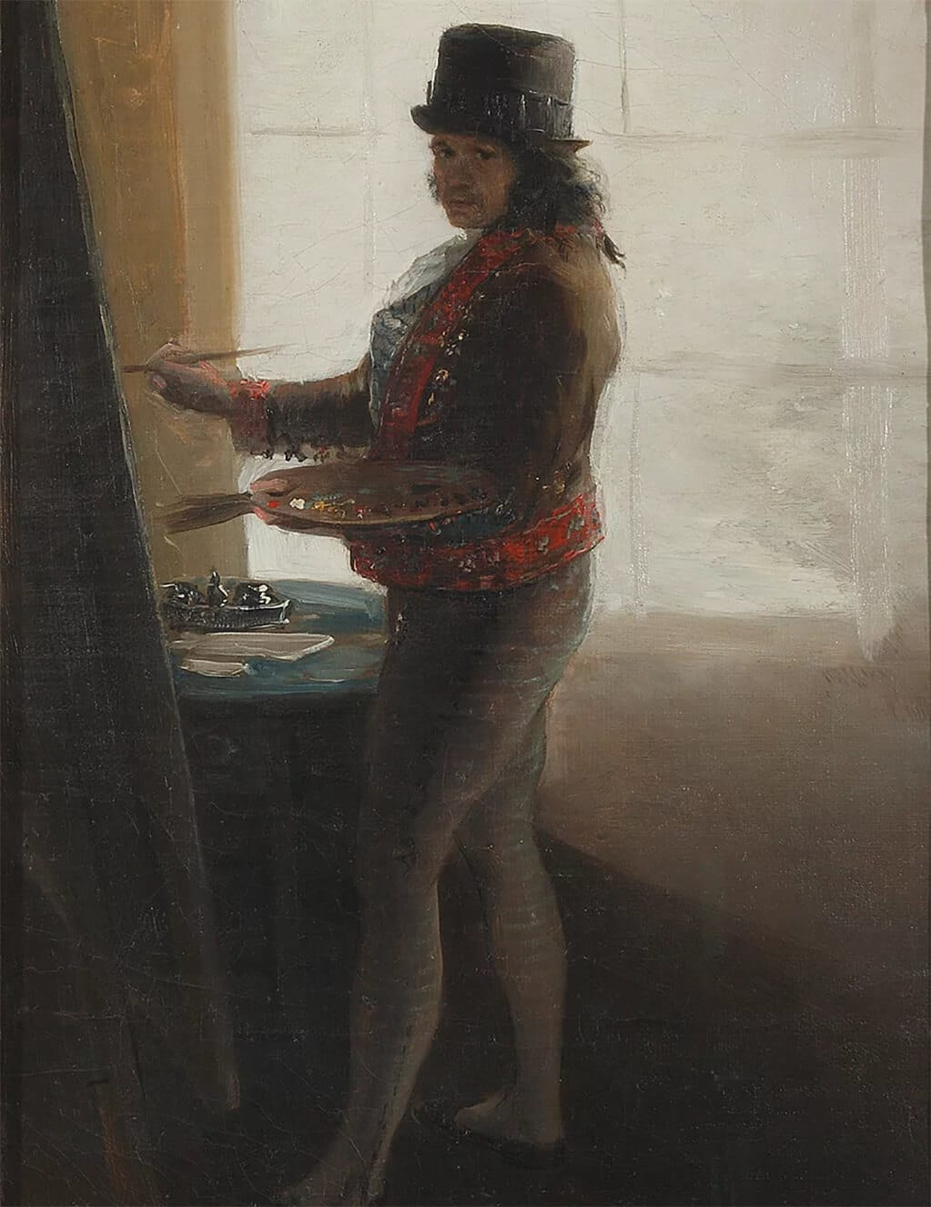Francisco Goya, Self Portrait before an Easel, 1792-95; Academy of Fine Art, San Fernando, Madrid