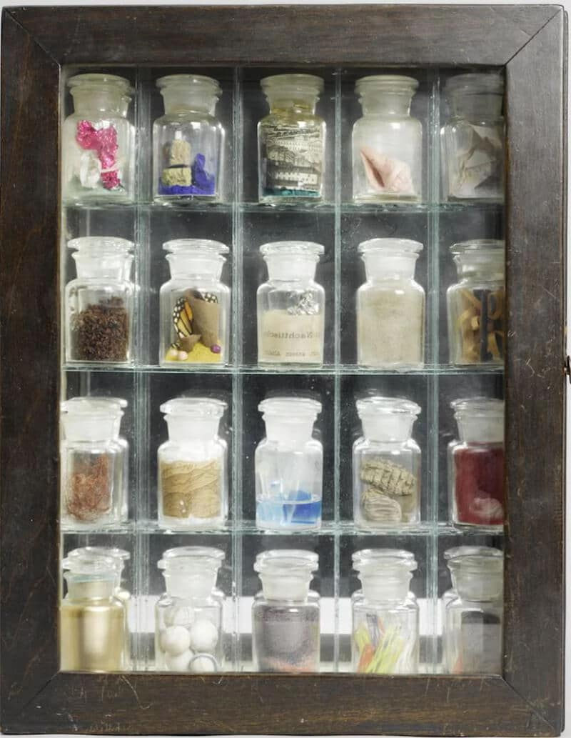 Pharmacy, 1943, predating Damien Hirst by five decades; courtesy The Joseph and Robert Cornell Memorial Foundation