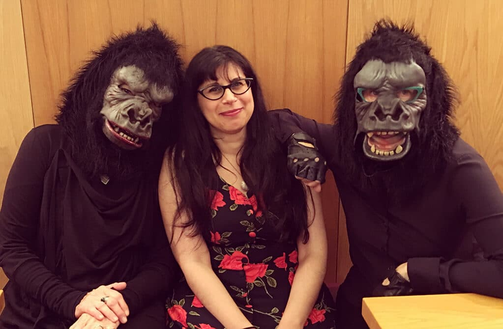 Me and the Guerrilla Girls at Whitechapel Gallery