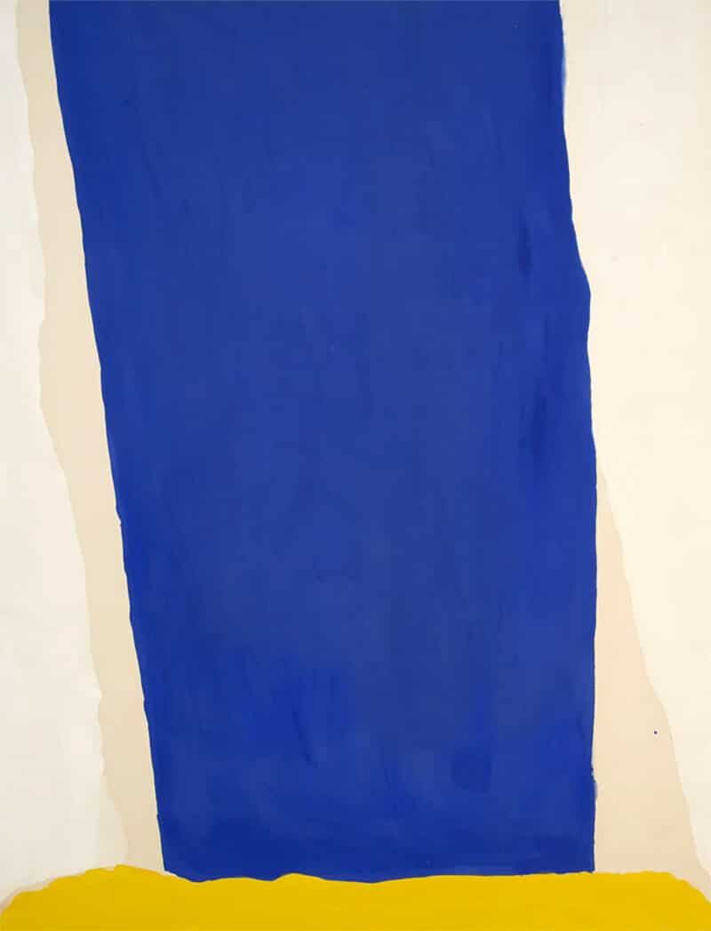Frankenthaler, Blue Fall, 1966; Milwaukee Art Museum / Helen Frankenthaler Foundation