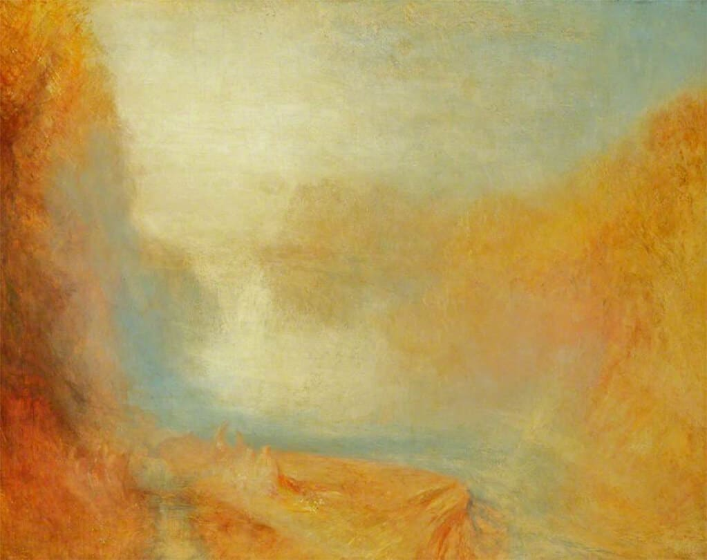 Turner, Falls of the Clyde, 1840; National Museums Liverpool / Lady Lever Art Gallery
