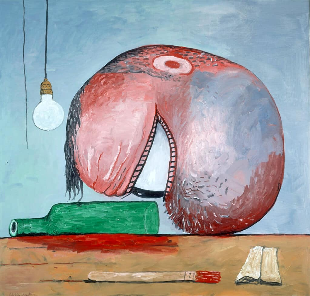 Head and Bottle, 1975; The estate of Philip Guston, courtesy private collection, USA