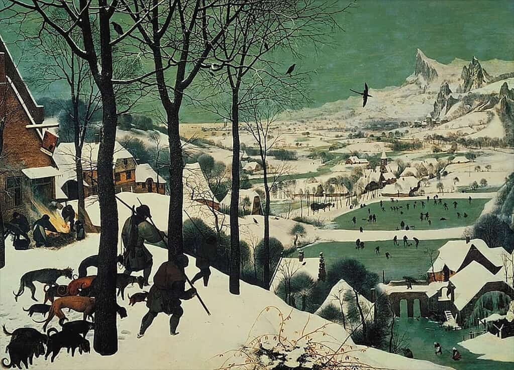 Hunters in the Snow, Pieter Bruegel the Elder (1565); Kunsthistorisches Museum, Vienna
