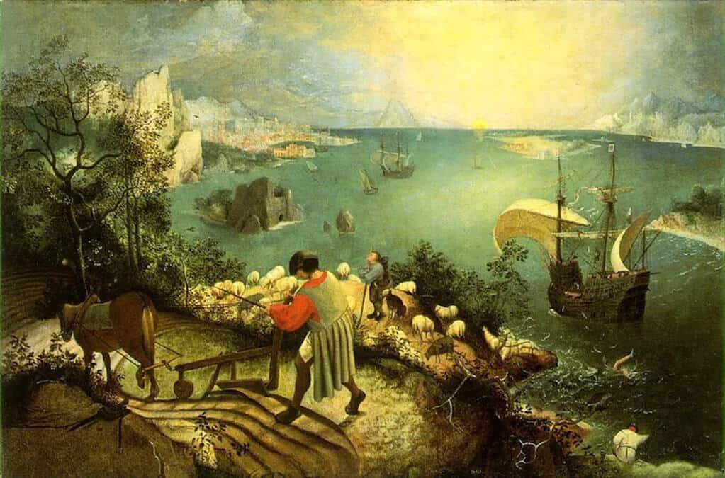 Landscape with the Fall of Icarus, Pieter Bruegel the Elder (1558); Royal Museums of Fine Arts of Belgium