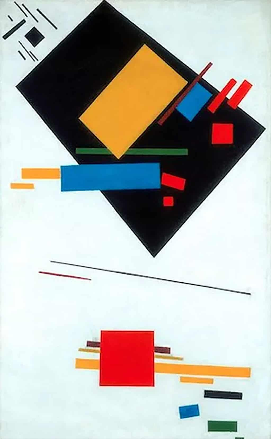 Suprematist Painting (Black Trapezium and Red Square), 1915