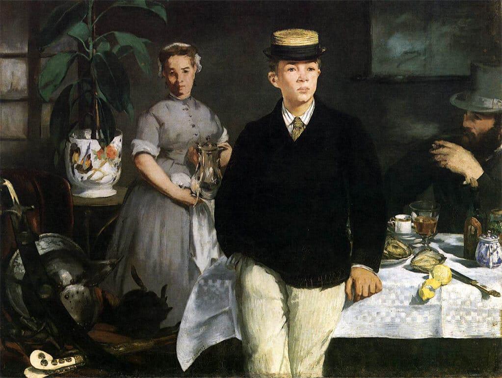 The Luncheon, 1868; Neue Pinakothek, Munich