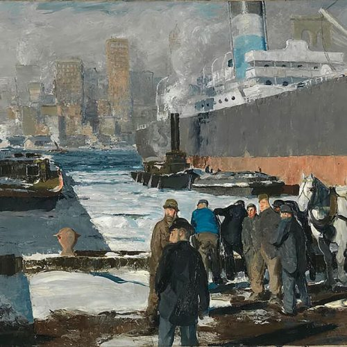 George Bellows, Men of the Docks, 1912, acquired by the National Gallery, London