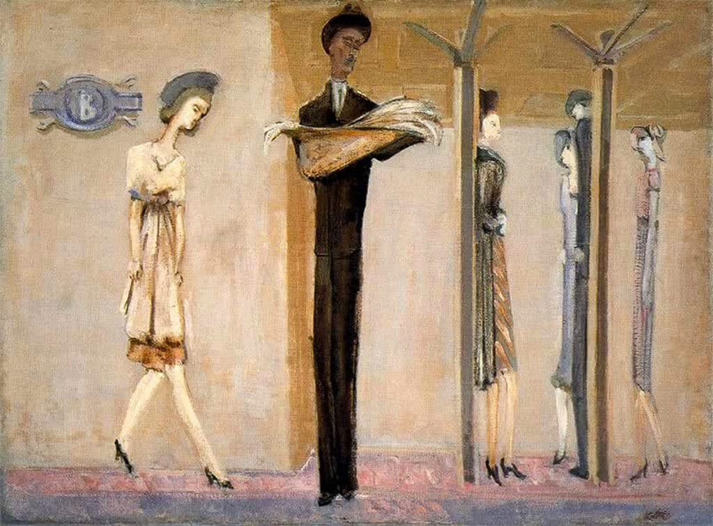 Underground Fantasy, c.1940; National Gallery of Art, Washington; The Mark Rothko Foundation, Inc.