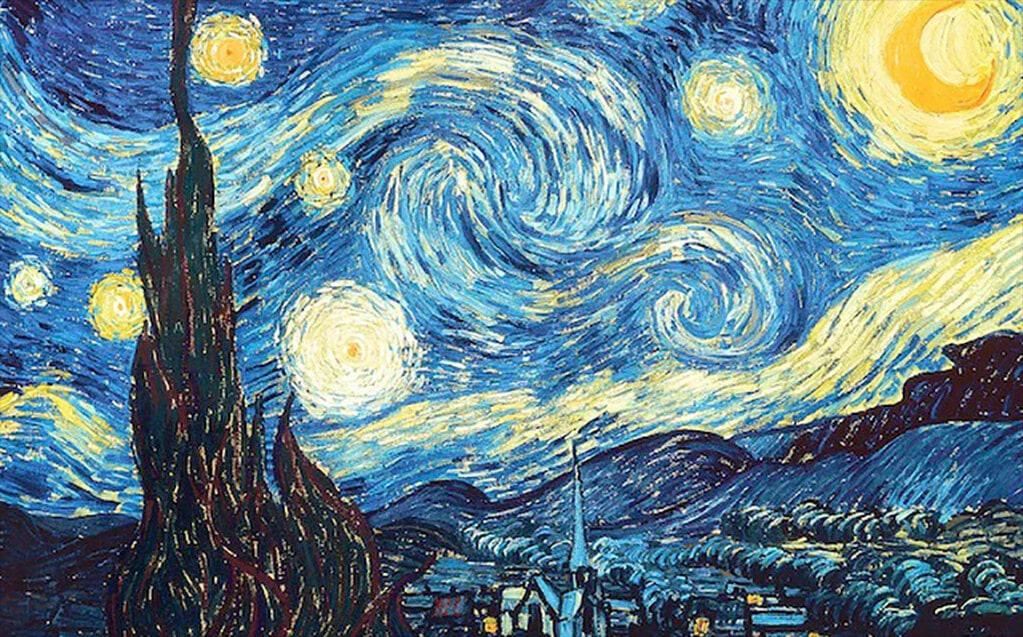 The Starry Night, Van Gogh (1889); Museum of Modern Art, New York