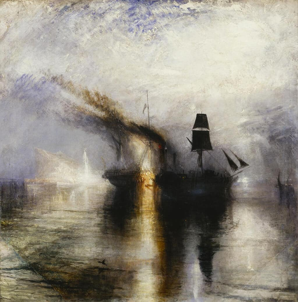The magnificently brooding Peace: Burial at Sea, 1842; Tate