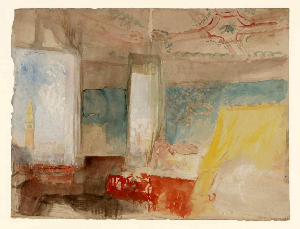 Turner's Bedroom in the Palazzo Giustinian, (the Hotel Europa), Venice, c.1840; Tate