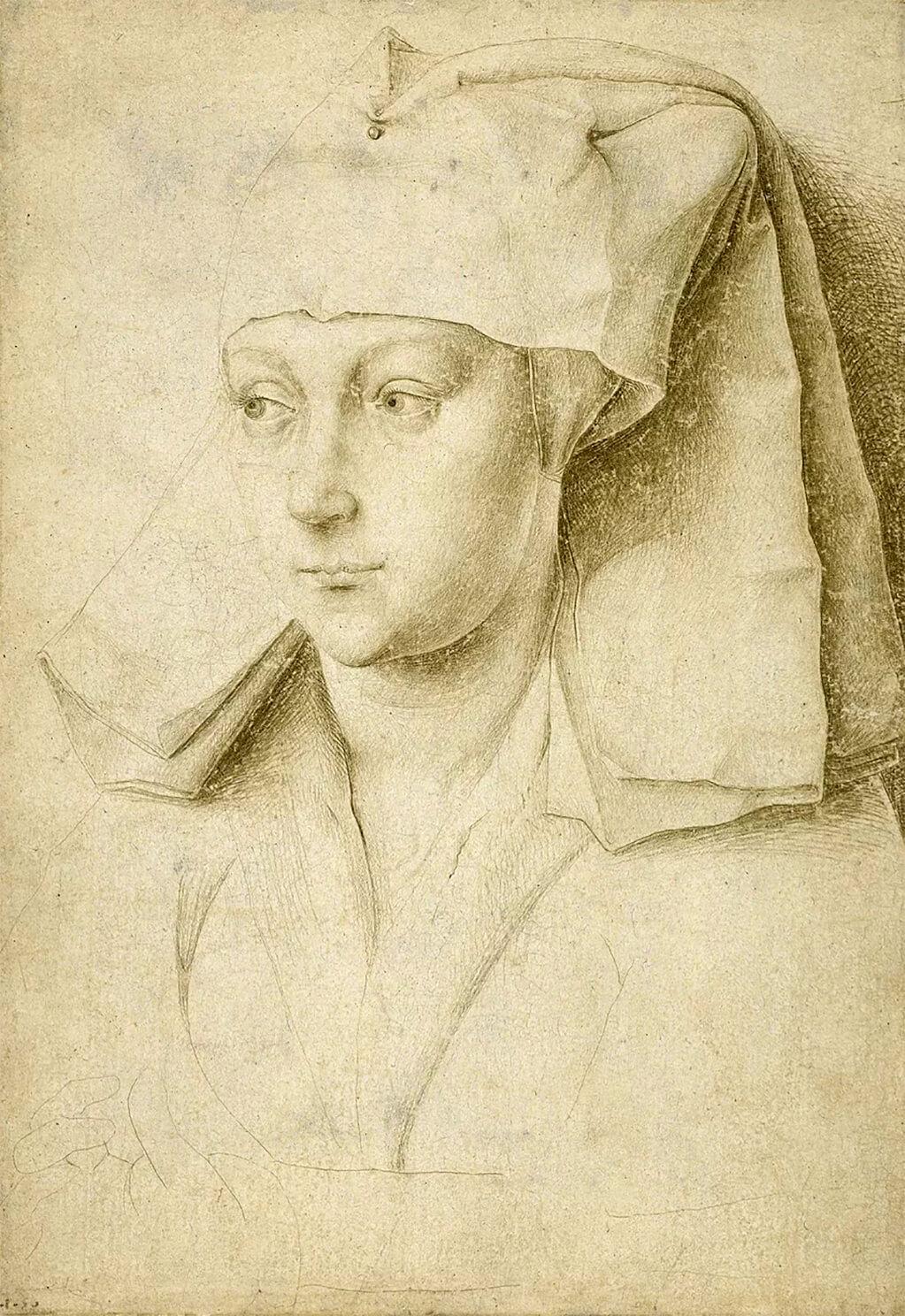 Rogier van der Weyden, Portrait of an Unknown Young Woman, c.1435; British Museum