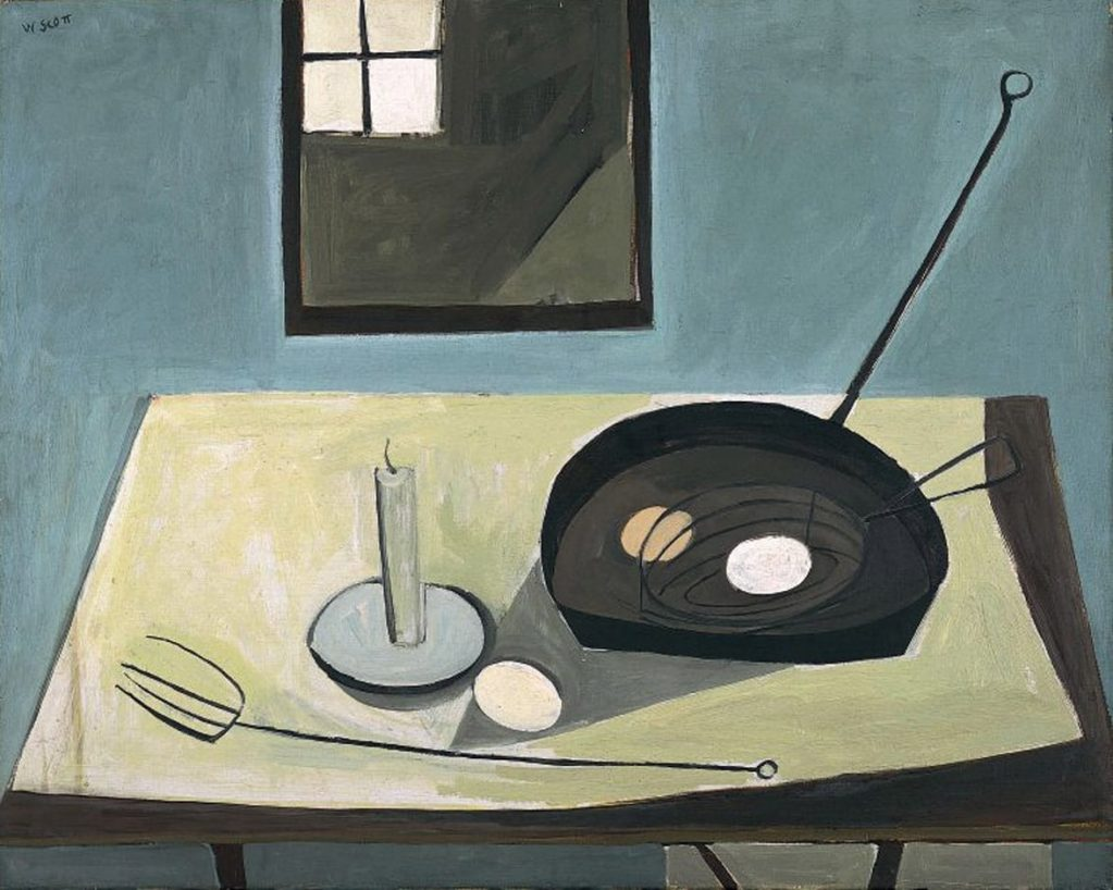 William Scott, Still Life with Candlestick, 1949-50