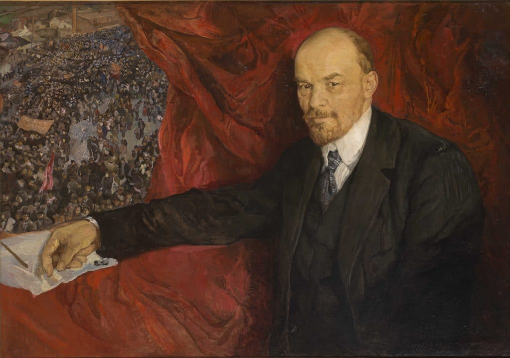 Isaak Brodsky, V.I.Lenin and Manifestation, 1919; The State Historical Museum, Moscow