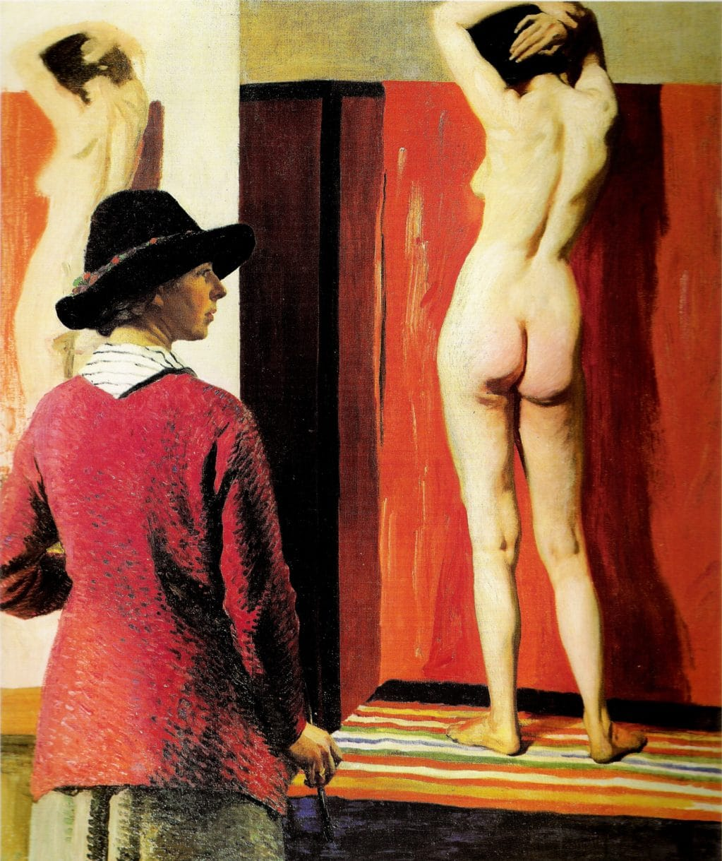 Laura Knight, Self Portrait and Nude, 1913