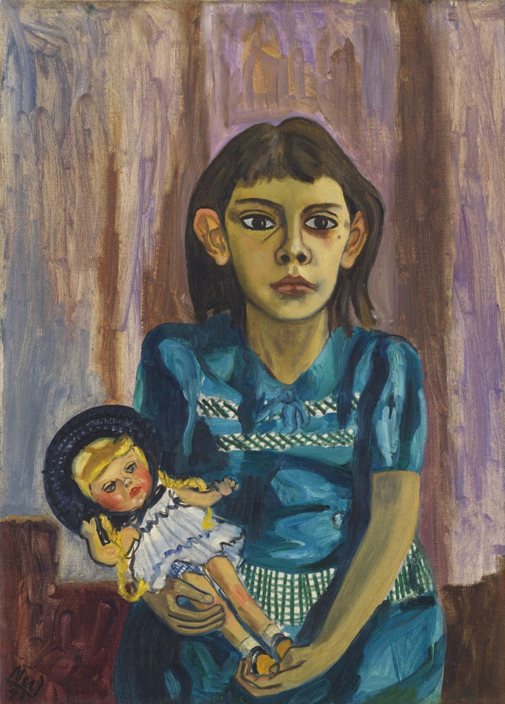 Alice Neel, Julie and the doll, 1943